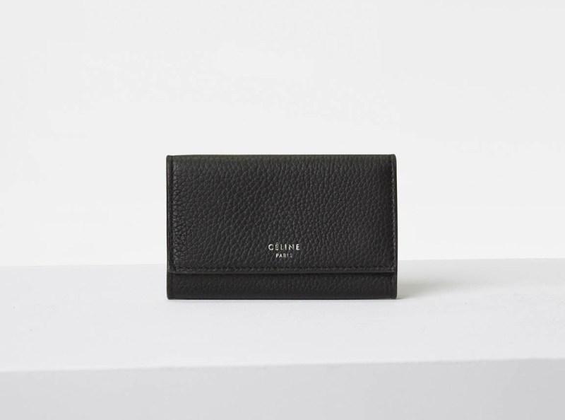 Black celine cardholder