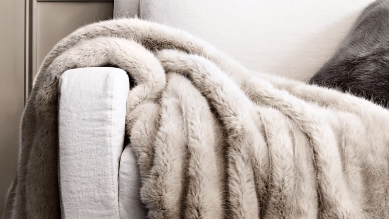 Restoration hardware throw on visual therapy's 2017 gift guide