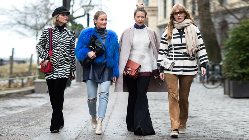 street style shot of bloggers during new york fashion week