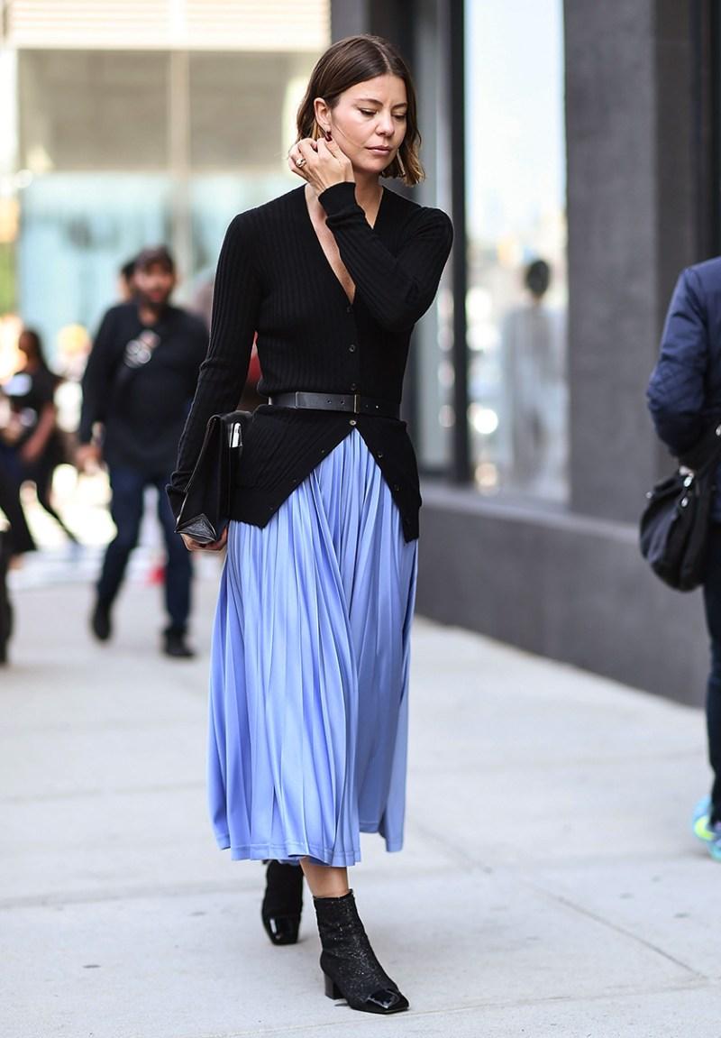 Black booties street style