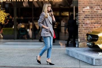 jeans blazer street style