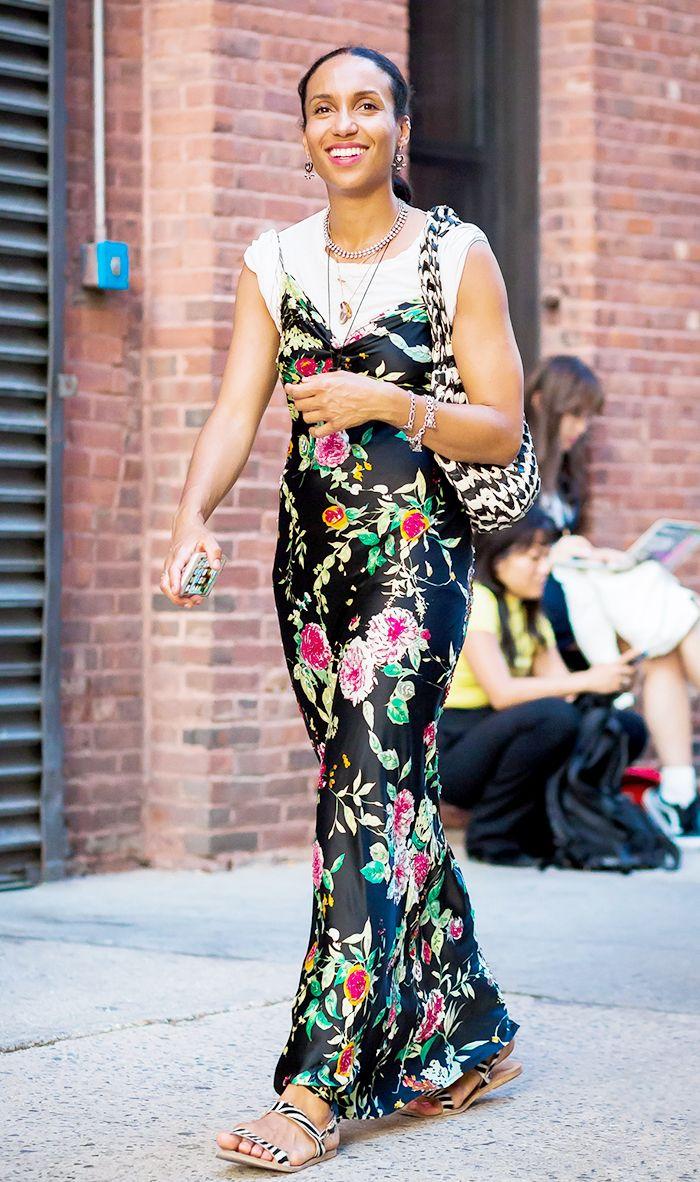 bohemian maxi dress street style