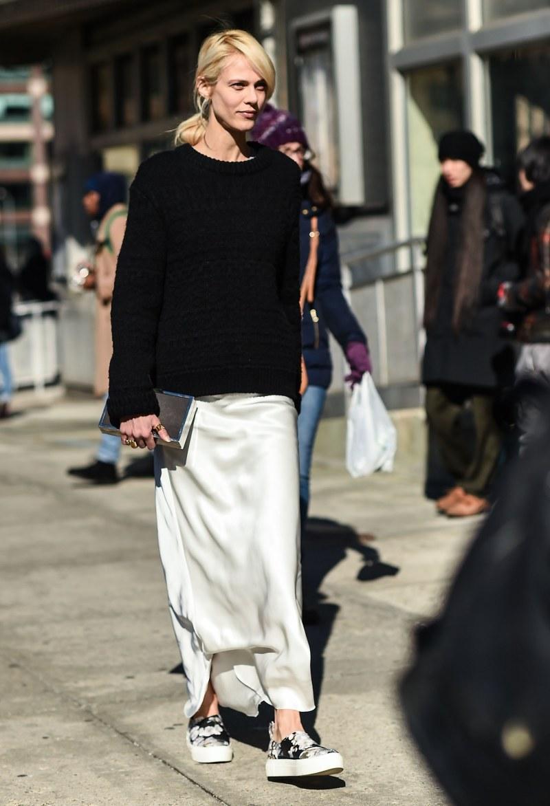 layered dress street style