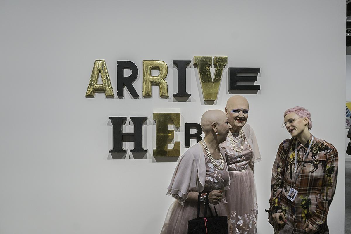 Eva and Adele at Art Basel Fair 2017 Photo by Barry Fellman