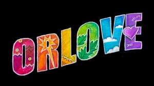 Text that says ORLOVE with rainbow colors across the letters