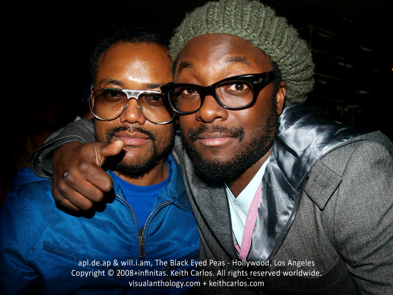 apl.de.ap & will.i.am, The Black Eyed Peas - Hollywood, Los Angeles, California - Copyright © 2008+infinitas. Keith Carlos. All rights reserved worldwide. visualanthology.com + keithcarlos.com