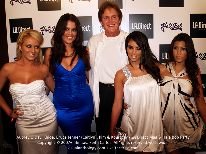 Aubrey O'Day, Khloé, Bruce Jenner (Caitlyn), Kim & Kourtney Kardashian - LA Direct Magazine & Hale Bob Party, West Hollywood, Los Angeles, California - Copyright © 2007+infinitas. Keith Carlos. All rights reserved worldwide. visualanthology.com + keithcarlos.com