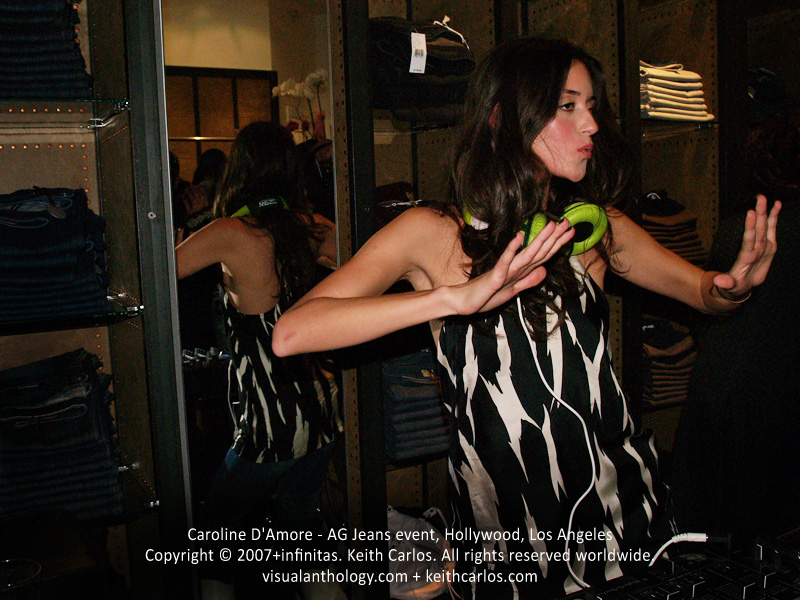 Caroline D'Amore - DJ, AG Jeans event, Hollywood, Los Angeles, California - Copyright © 2007+infinitas. Keith Carlos. All rights reserved worldwide. visualanthology.com + keithcarlos.com