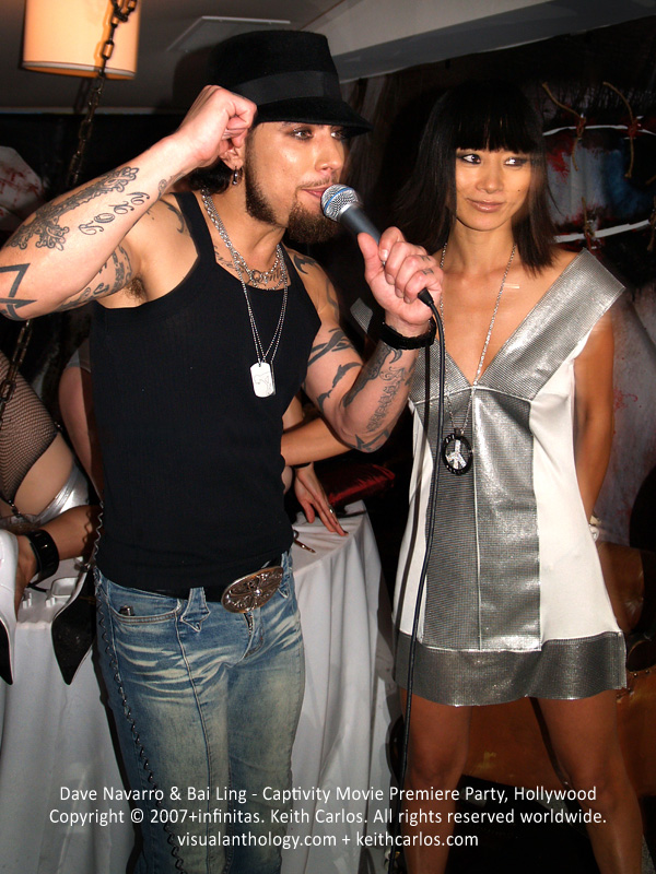 Dave Navarro & Bai Ling - Captivity Movie Premiere Party, Hollywood, Los Angeles, California - Copyright © 2007+infinitas. Keith Carlos. All rights reserved worldwide. visualanthology.com + keithcarlos.com