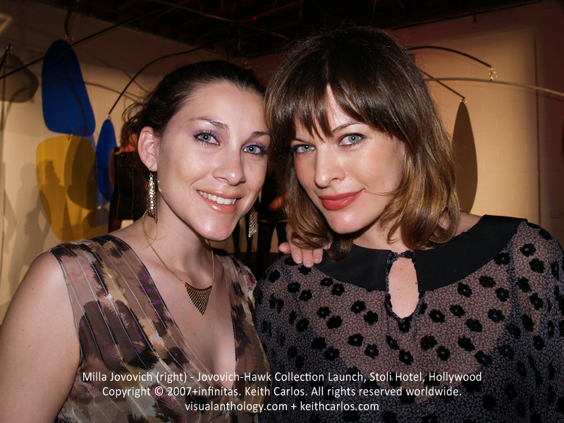 Milla Jovovich - Jovovich-Hawk Collection Launch, Stoli Hotel, Hollywood, Los Angeles, California - Copyright © 2007+infinitas. Keith Carlos. All rights reserved worldwide. visualanthology.com + keithcarlos.com