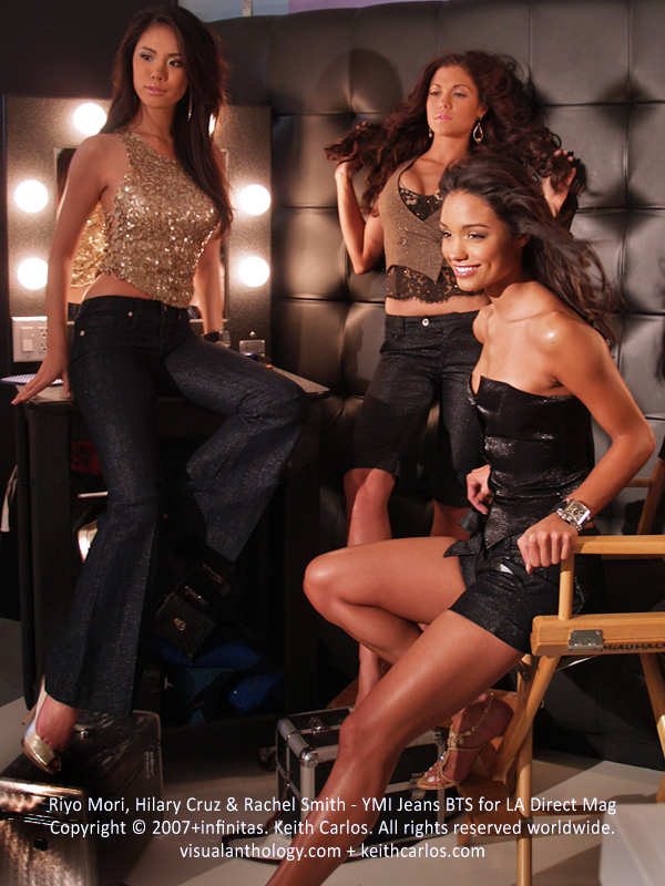 Riyo Mori, Rachel Smith & Hilary Cruz - Miss Universe 2007, Miss USA 2007, Miss Teen USA 2007, YMI Jeans Campaign Behind The Scenes Exclusive for LA Direct Magazine, Los Angeles, California - Copyright © 2007+infinitas. Keith Carlos. All rights reserved worldwide. visualanthology.com + keithcarlos.com