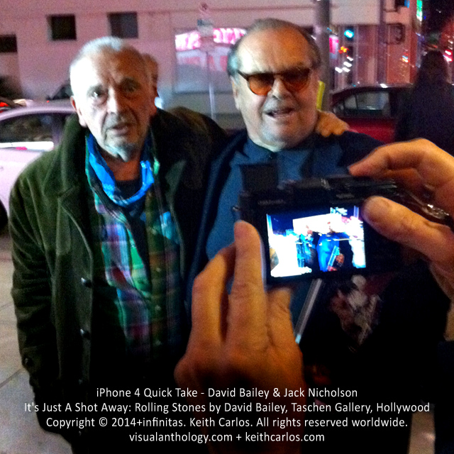 David Bailey & Jack Nicholson - It's Just A Shot Away: Rolling Stones in Photographs by David Bailey, Taschen Gallery, Hollywood, Los Angeles, California - Copyright © 2014+infinitas. Keith Carlos. All rights reserved worldwide. visualanthology.com + keithcarlos.com