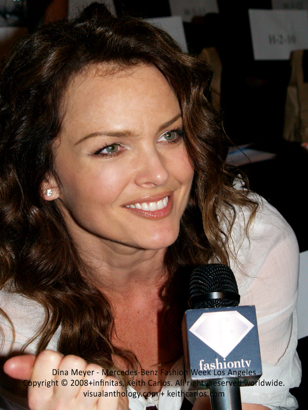 Dina Meyer - 90210, CSI, NCIS, Burn Notice, Nip/Tuck, Birds of Prey, Starship Troopers, Mercedes-Benz Fashion Week 2008 October, Los Angeles, California - Copyright © 2008+infinitas. Keith Carlos. All rights reserved worldwide. visualanthology.com + keithcarlos.com