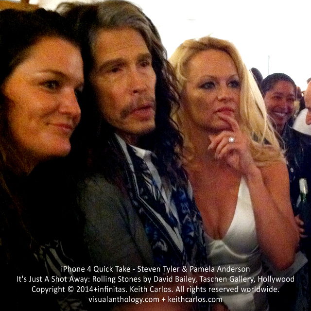 Steven Tyler & Pamela Anderson - It's Just A Shot Away: Rolling Stones in Photographs by David Bailey, Taschen Gallery, Hollywood, Los Angeles, California - Copyright © 2014+infinitas. Keith Carlos. All rights reserved worldwide. visualanthology.com + keithcarlos.com