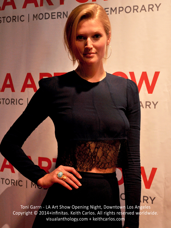 Toni Garrn - model, Calvin Klein, Victoria's Secret; LA Art Show Grand Opening Night Press Reception Party, Convention Center Downtown LA, Los Angeles, California - Copyright © 2014+infinitas. Keith Carlos. All rights reserved worldwide. visualanthology.com + keithcarlos.com