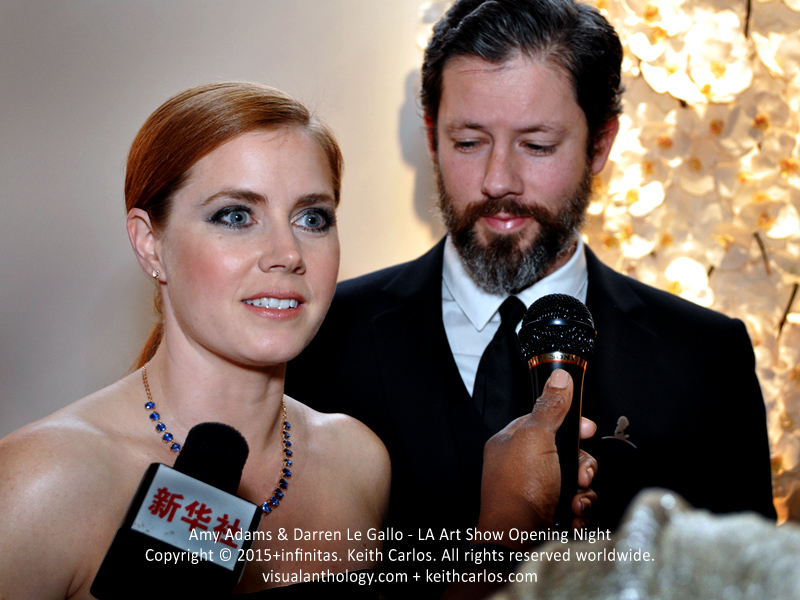 Amy Adams & Darren Le Gallo - Justice League, American Hustle, Her, Night at the Museum: Battle of the Smithsonian, Enchanted, The Office; LA Art Show Grand Opening Night Red Carpet Press Reception Party, Convention Center Downtown Los Angeles, California - Copyright © 2015+infinitas. Keith Carlos. All rights reserved worldwide. visualanthology.com + keithcarlos.com