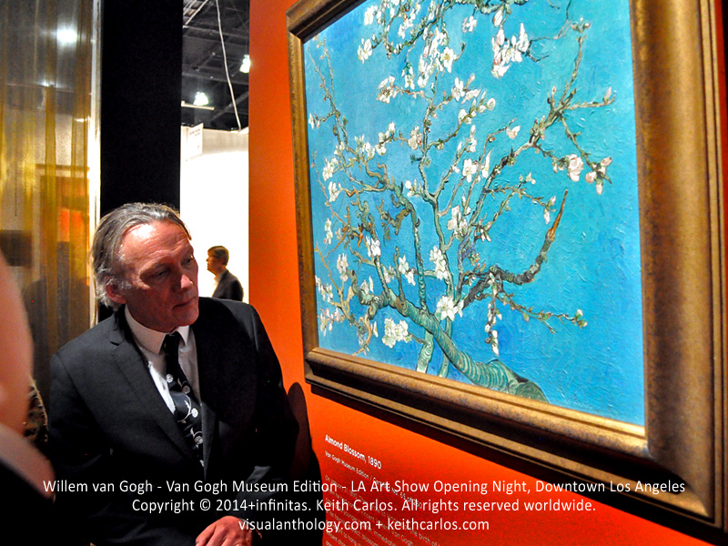 Willem van Gogh - Great-Grandnephew of Vincent van Gogh, Van Gogh Museum Edition, LA Art Show Grand Opening Night Press Reception Party, Convention Center Downtown LA, Los Angeles, California - Copyright © 2014+infinitas. Keith Carlos. All rights reserved worldwide. visualanthology.com + keithcarlos.com