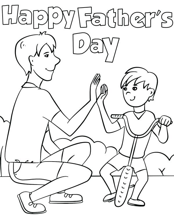 23 Fathers Day Coloring Pages Visual Arts Ideas