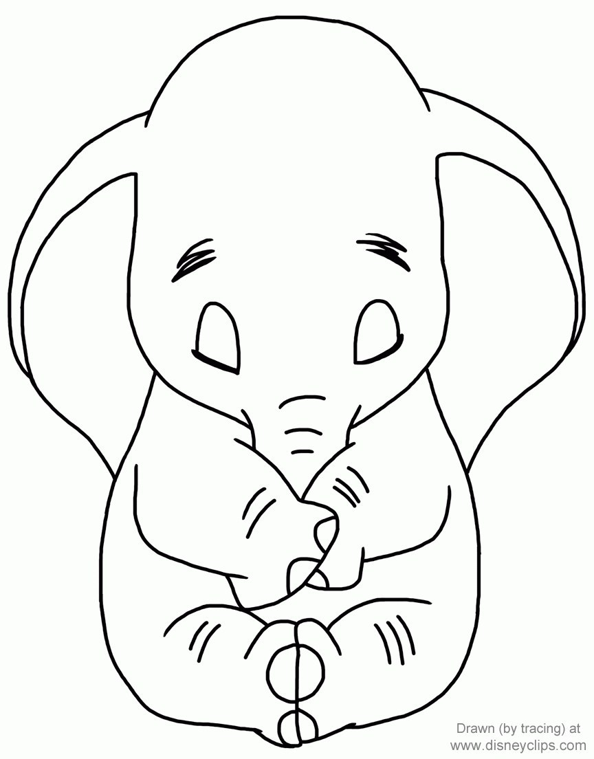 Dumbo Coloring Pages For Kids Visual Arts Ideas