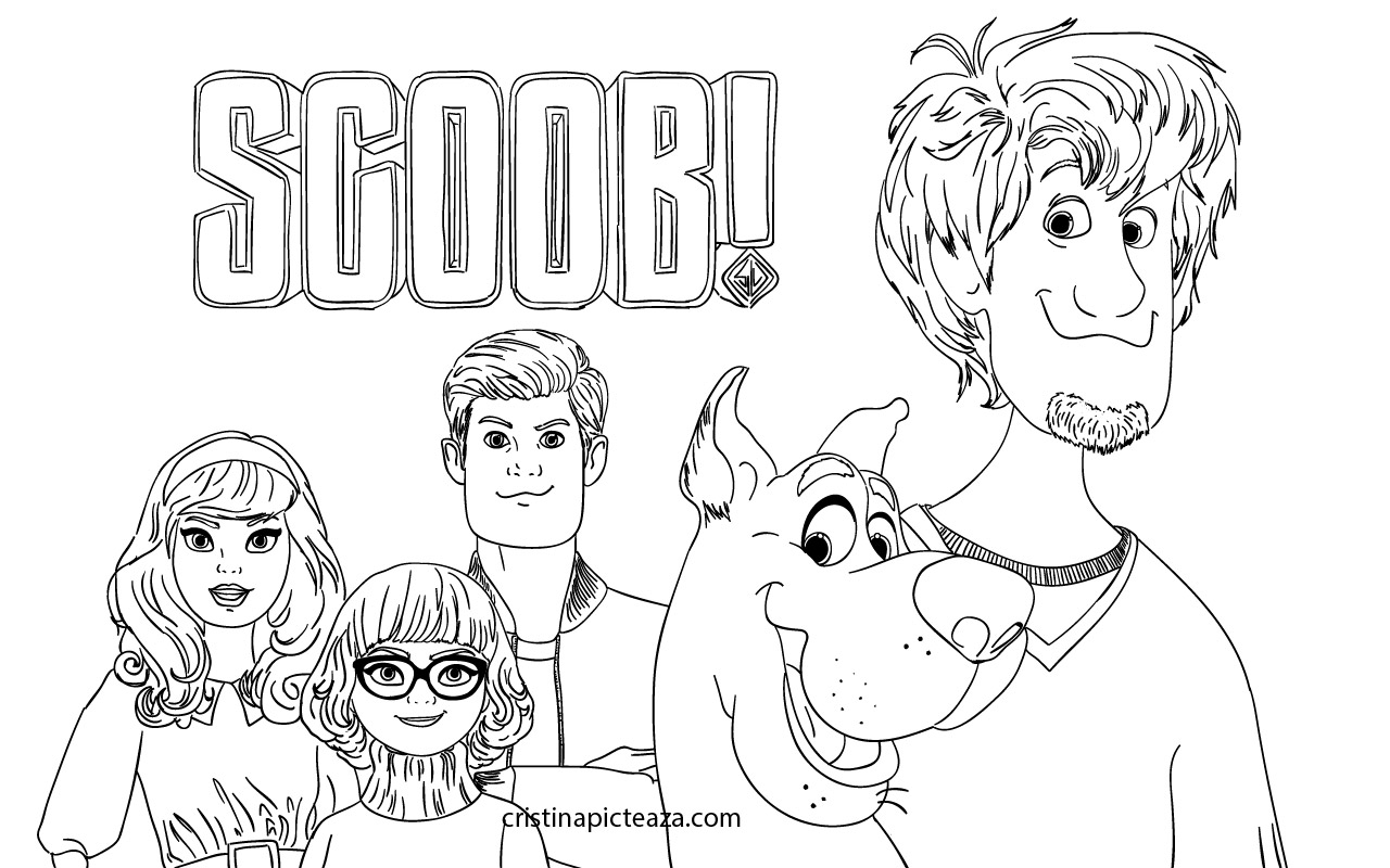 Scoob Coloring Pages