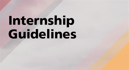 Publications Internship Guidelines