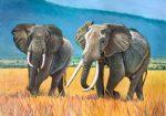 Elephants on the Plain by Deirdre Dunne, A Better Place 2019 artist