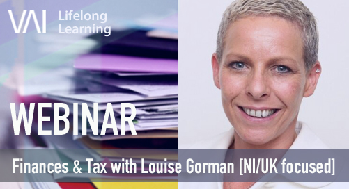 Webinar: Finances & Tax for self-employed artists with Louise Gorman [NI/UK focused]