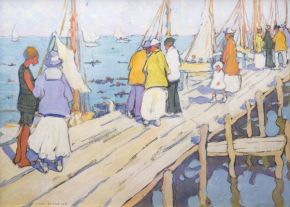 The Pier, Edgartown, Jane Peterson, ca. 1915