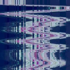 glitchy metallic abstract graphic art