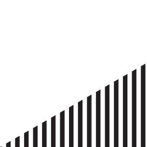 black and white stripe triangle
