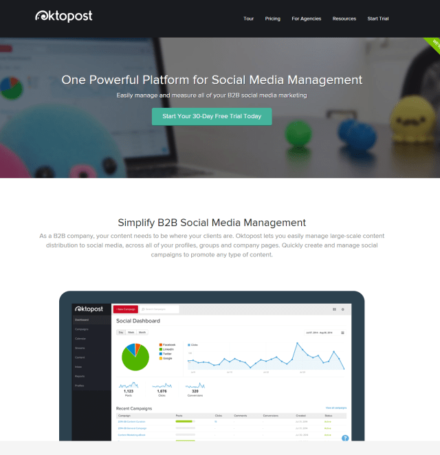 Social Media Management for B2B Marketing Oktopost