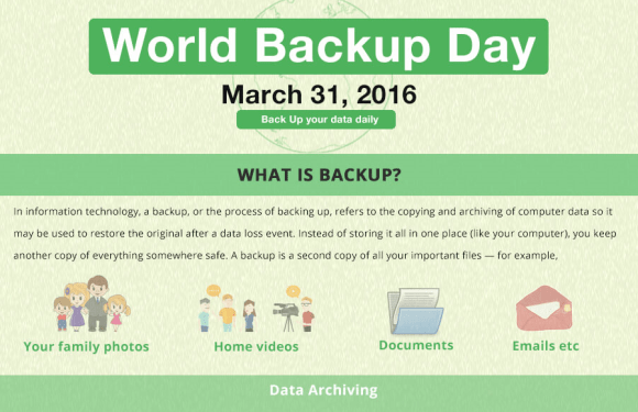 Celebrate World Backup Day March 31 2016 [Infographic]