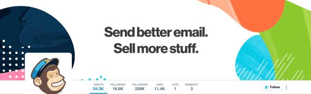 Mailchimp Twitter header