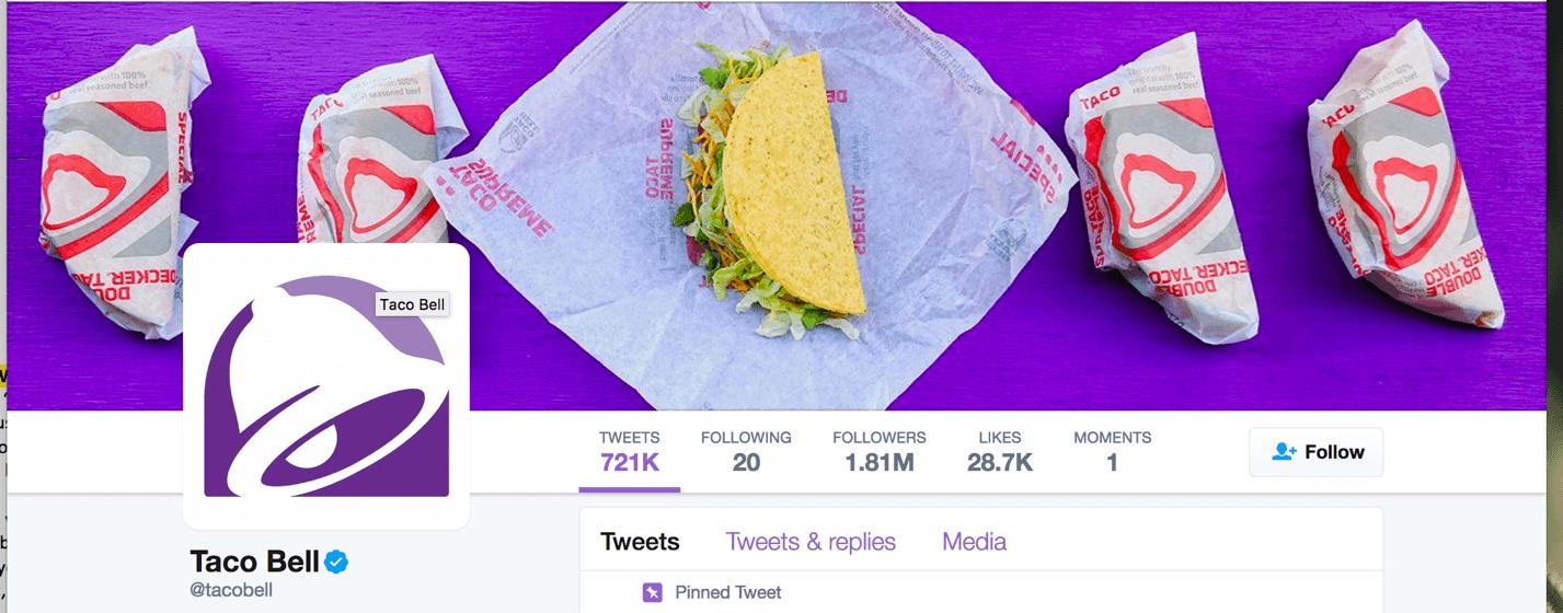 Taco Bell Twitter header