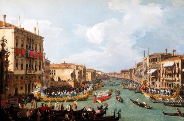 Regatta On the Grand Canal Canaletto