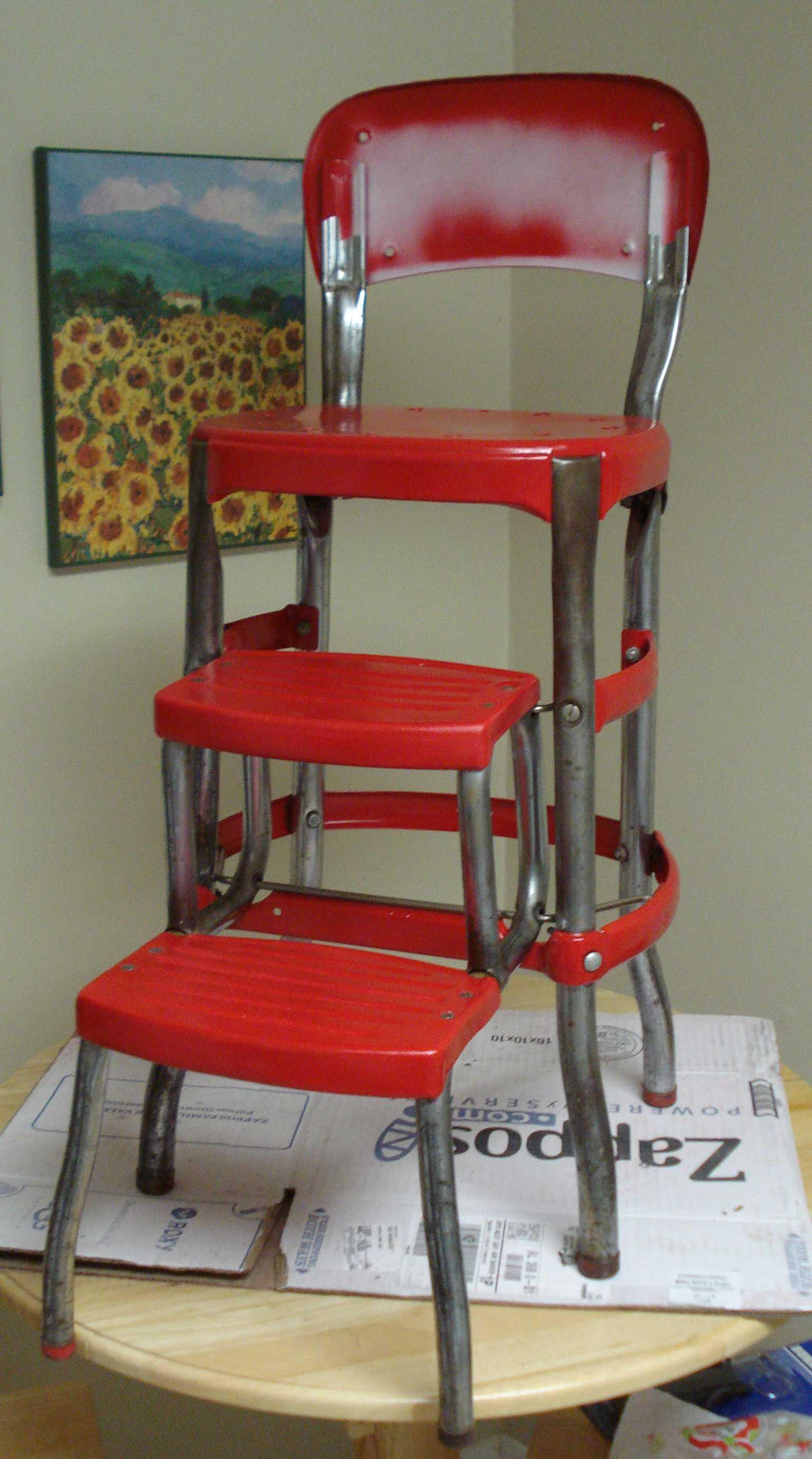 Cosco Step Ladder Chair Restoration  Visual Engineering