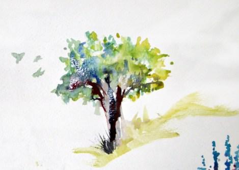 Tree w birds