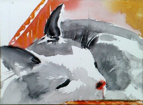 """7 1/2"""" x 5 1/2"""" watercolor on 140 lb"""
