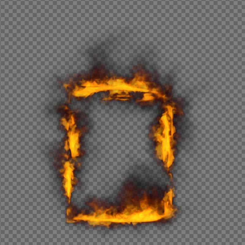 Frame Fire - alpha channel