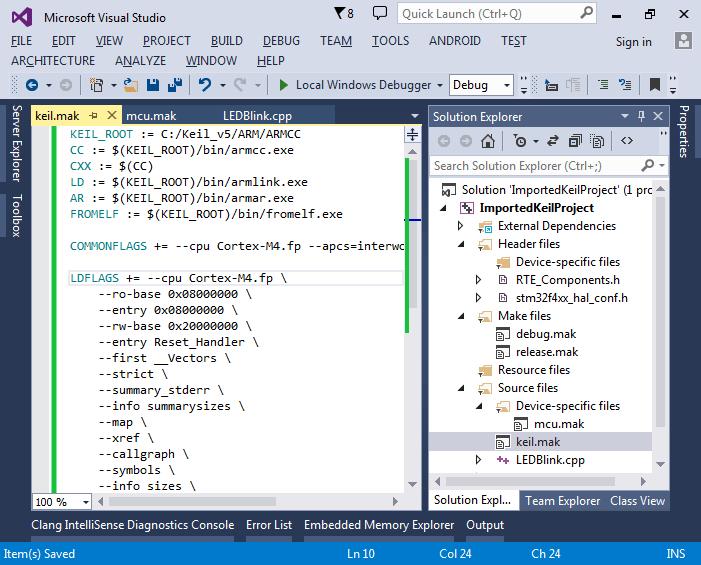 Developing Keil MDK-ARM Projects with VisualGDB   VisualGDB Tutorials