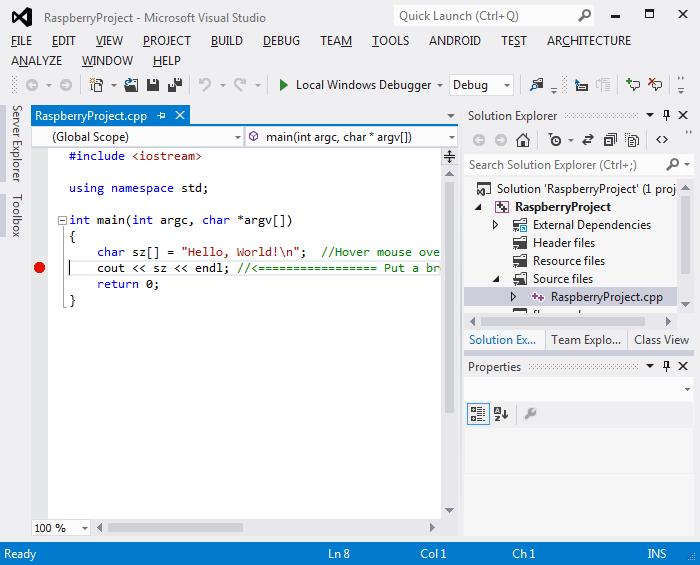 Using a Cross-compiler for Raspberry PI | VisualGDB Tutorials