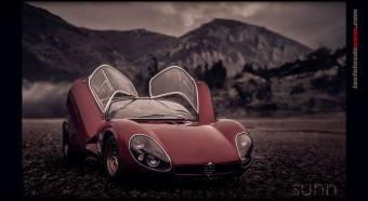 35X3 Maqueta escala 118 Alfa Romeo Stradale Prototype 1967 by Raul Sunn