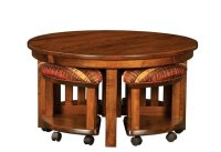 Wooden Coffee Table With Stools Underneath. great coffee ...