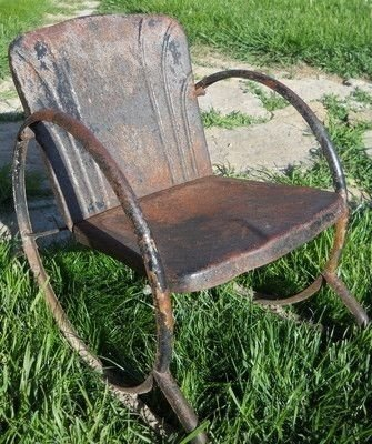 old metal chairs swivel chair gumtree glasgow vintage lawn visual hunt 17 best images about rusty on pinterest
