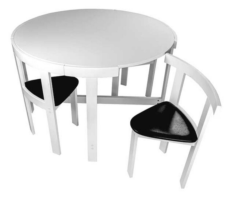 small table and chairs gray swivel chair space saving visual hunt 17 furniture for spaces folding dining tables