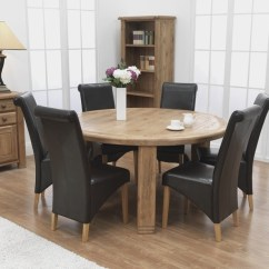 Round Kitchen Table For 6 Breakfast Dining Visual Hunt 71 Set