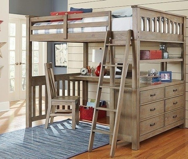 Adult Full Size Loft Bed With Desk Home