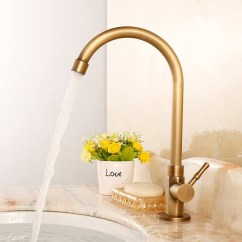 Brass Kitchen Sink Console Antique Faucet Visual Hunt Vessel Cold Water Faucets 75 99