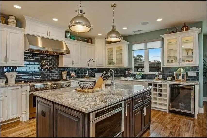 antique white kitchen cabinets green cabinet doors visual hunt design photos designing