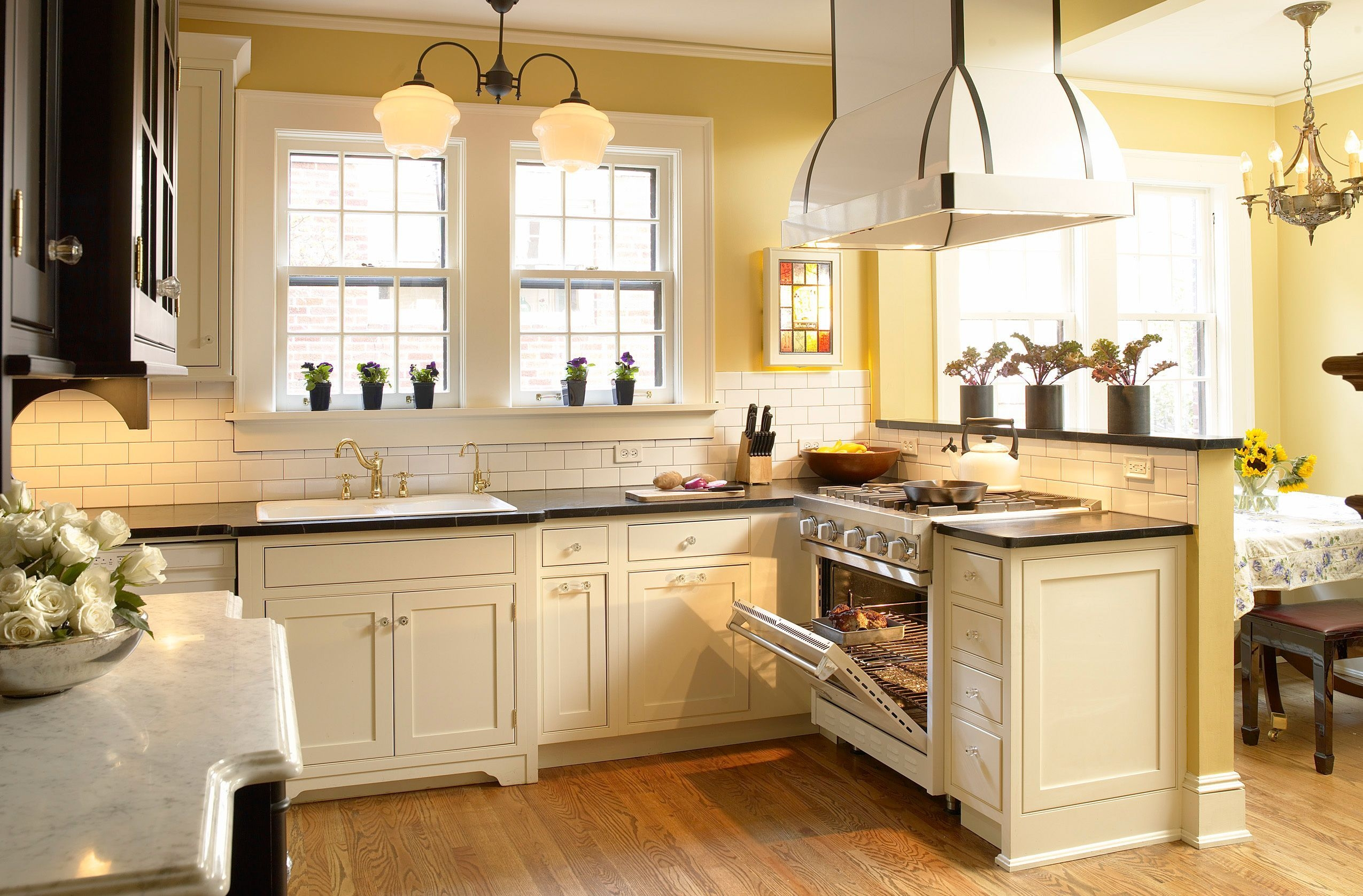 antique white kitchen cabinets delta faucets visual hunt with granite countertops